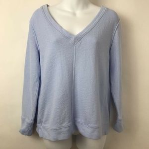 Lou & Grey Sweatshirt Blue V-Neck Long Sleeve XS